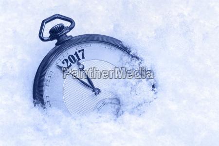 anyo nuevo reloj de bolsillo