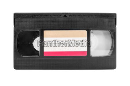 cassette de vhs sobre fondo blanco