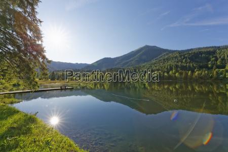 austria styria lake erlaufsee near mariazell