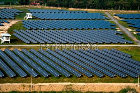 solar panels solar farms aerial photo