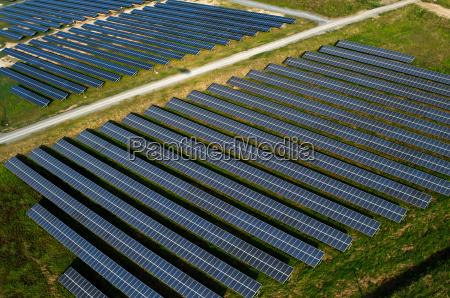 solar panels solar farms aerial view