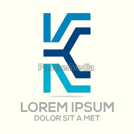 logo vector icon letter k elements