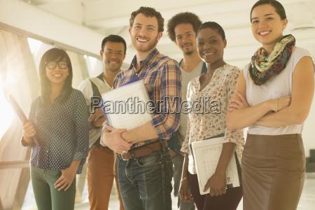 retrato de gente feliz de negocios