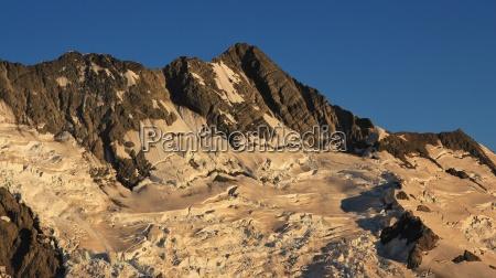punta nueva zelanda glaciar montanya