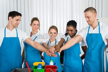 mano manos cinco espiritu anyadir limpiador