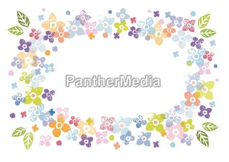 marco floral colorido