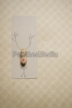 tarjeta de navidad hecha a si