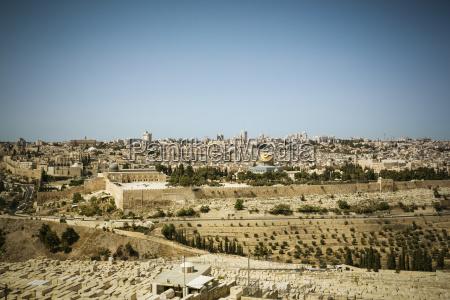 israel jerusalen paisaje urbano con la