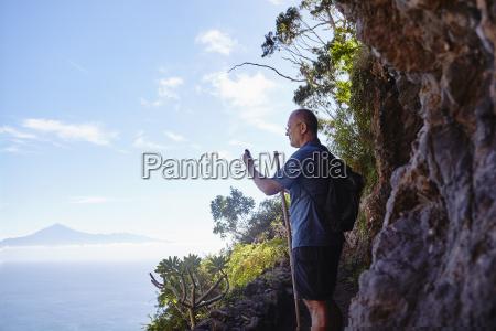 espanya islas canarias la gomera caminante