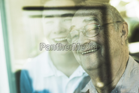 portrait of senior man and his