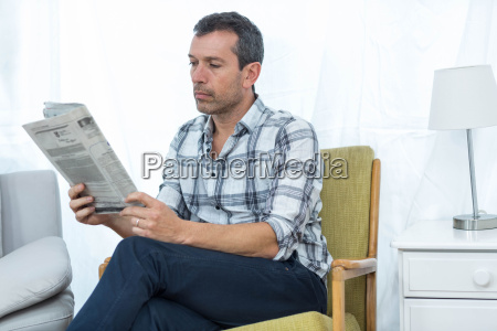 man sitting on a chair