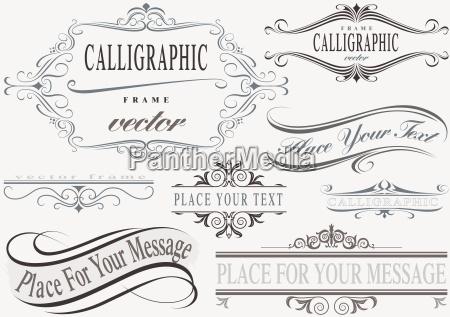 conjunto de cuadros caligraficos