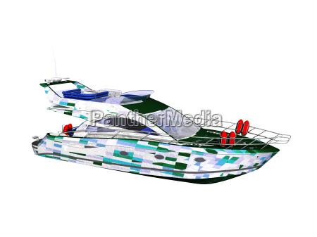 marinero yate pesca motora barco con