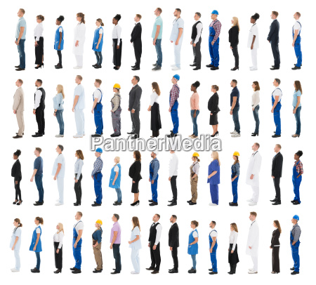 people with various profession standing in