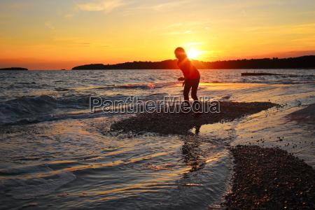 girl on the beach shore