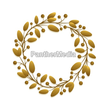 vector simple round fresh floral frame