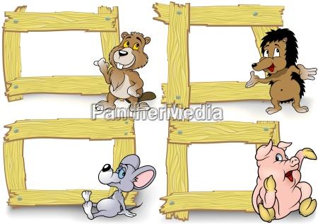 frame with cartoon animal