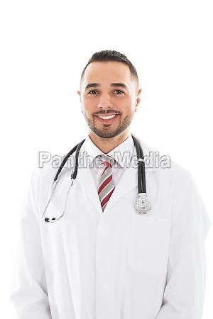 portrait of happy male doctor