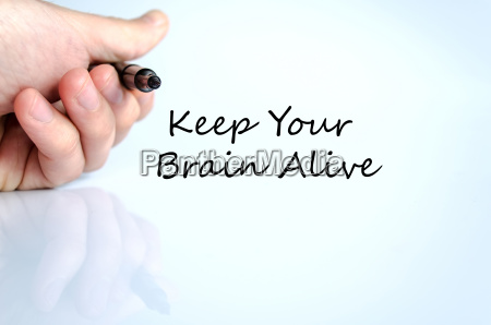 keep your brain alive text concept