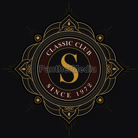 vector luxury emblem design template
