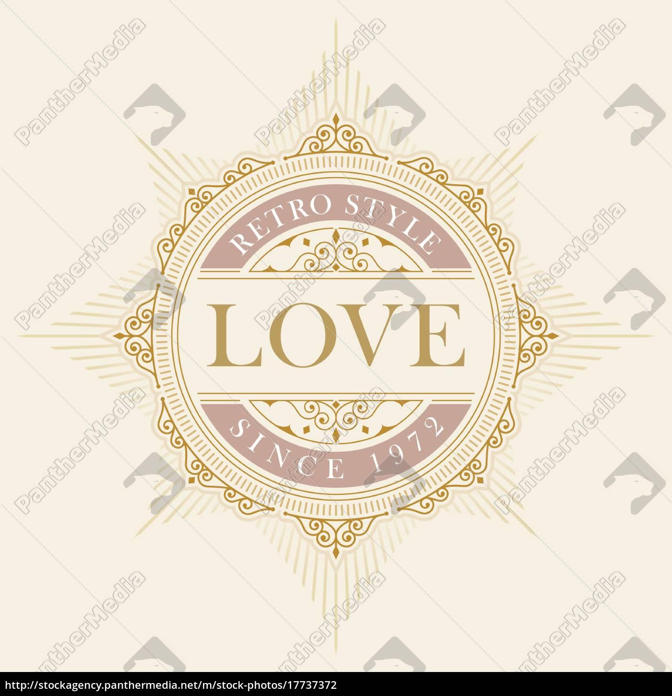 elegante, plantilla, de, emblema, vectorial - 17737372
