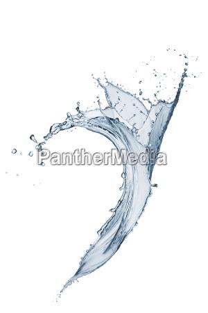 salpicando agua