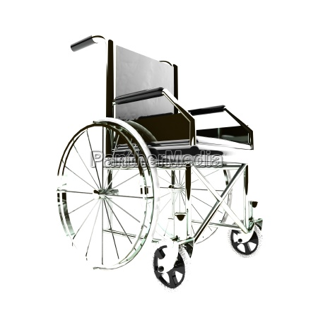 wheelchair isolated over white