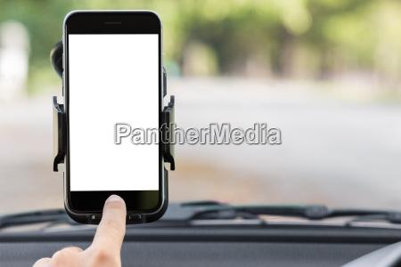 telefono mano coche carro vehiculo transporte