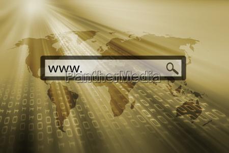 www written in the search bar