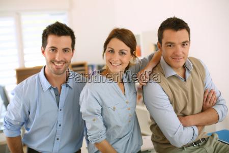 retrato de un equipo de negocios