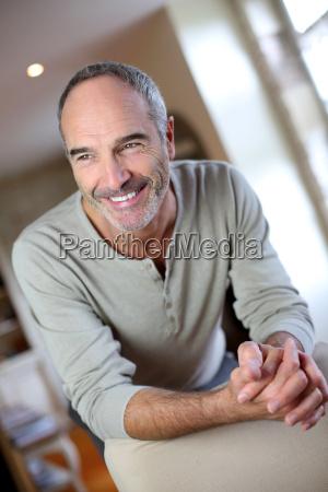 portrait of handsome mature man at