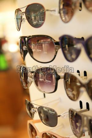 primer plano de las gafas de