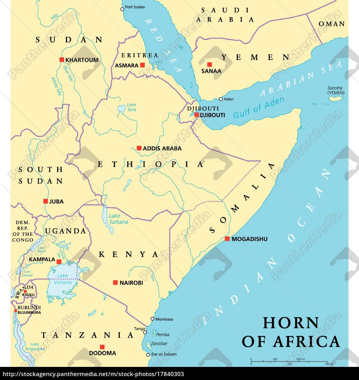 Cuerno De Africa Mapa.Vector Libre De Derechos 17840303 Mapa Politico Del Cuerno De Africa