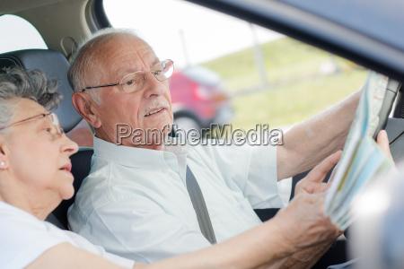 dentro del auto