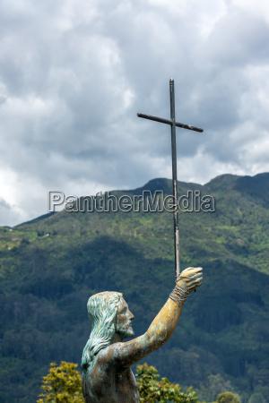 jesus statue on monserrate