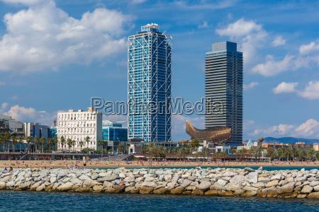barceloneta beach in barcelona catalonia spain