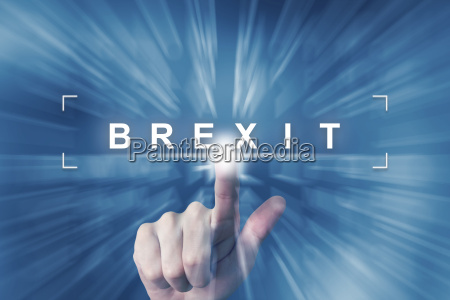 hand clicking on brexit or british