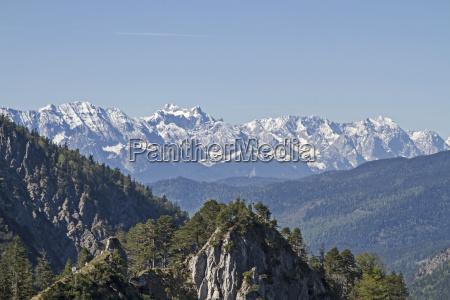 vista de las montanyas wetterstein