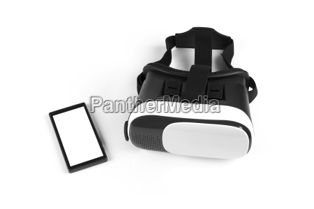 virtual reality headset with blank mobile