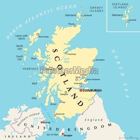 independiente mapa politico escocia