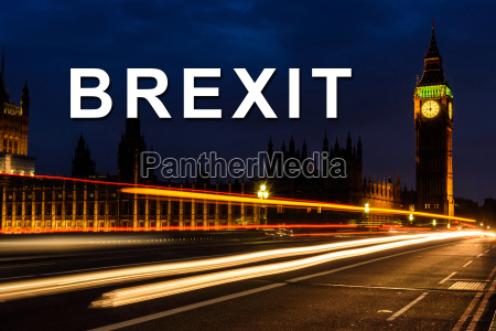 brexit or british exit with light