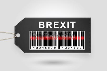 brexit or british exit price tag