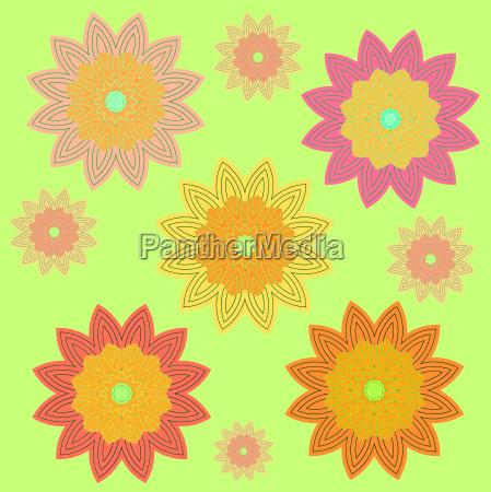 verde flor flores planta abstracto sin
