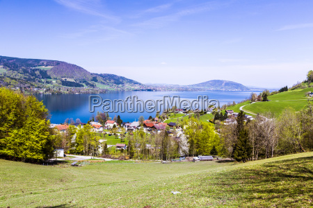 beautiful view to the attersee in