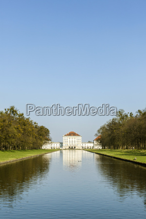 nymphenburg castle grounds in munich with