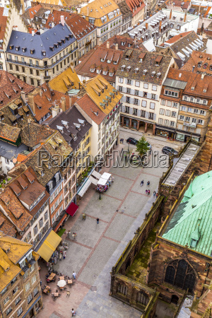 aerial view of strasbourg to