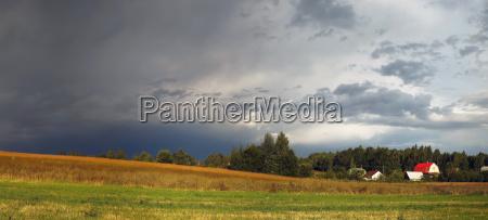 nube campo ver tiempo paisaje naturaleza