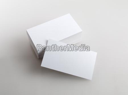 tarjetas de visita en blanco