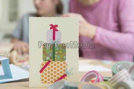 fiesta celebracion decorado mapa interior tarjeta