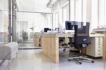 interior of bright modern office